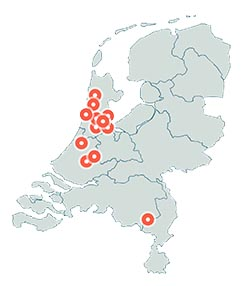 prive yogales kaart nederland
